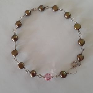 Jewelry - 925 silver and pearl bracelet